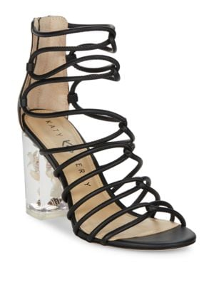 Photo of Janelle Strapped Leather Sandals by Katy Perry - shop Katy Perry shoes sales