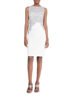 Lace Crepe Dress by Lauren Ralph Lauren