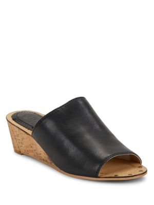 Suzi Wedge Leather Sandals by Latigo