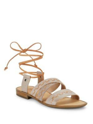 Lace-Up Leather Sandals by Latigo