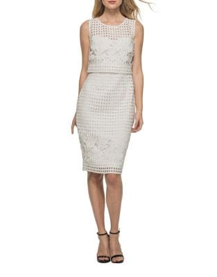 Roundneck Cutout Popover Dress by Guess
