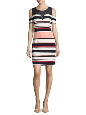 Striped Illusion Dress by Guess