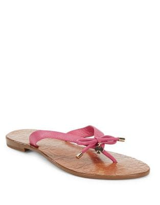 Charles Leather Flip Flops by Kate Spade New York