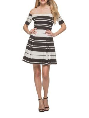 Two-Tone Fit and Flare Dress by Guess