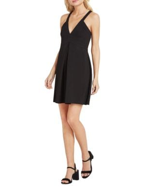 Photo of BCBGeneration Plunging V-Neck Fit and Flare Dress