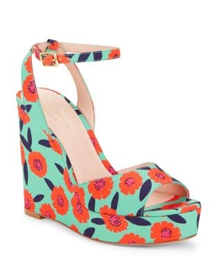 Photo of Dellie Textile Platform Wedge Sandals by Kate Spade New York - shop Kate Spade New York shoes sales