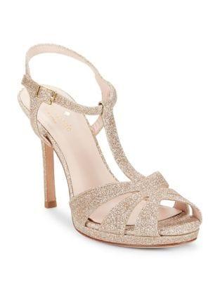Feodora Glitter Platform Sandals by Kate Spade New York