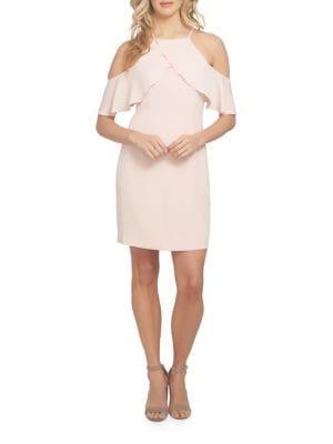 Bella Ruffled Cold-Shoulder Dress by Cynthia Steffe