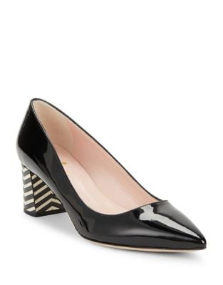 Milan Patent Leather Block Heel Shoes by Kate Spade New York