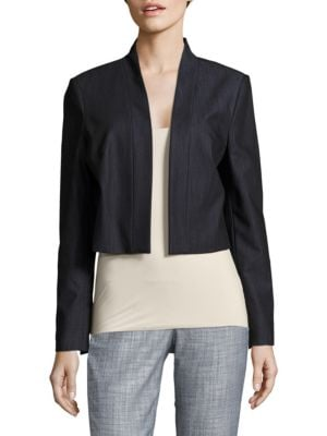 Solid Open-Front Jacket by Calvin Klein