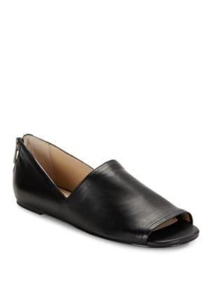 Maxine Leather Open Toe Flats by Botkier New York