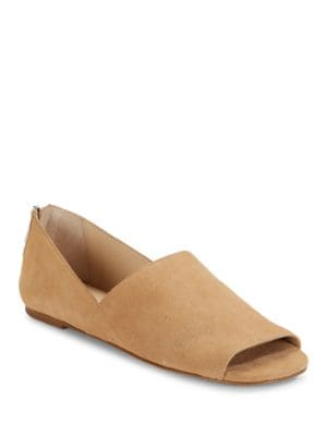 Maxine Kid Suede Open Toe Flats by Botkier New York