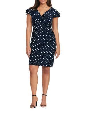 Polka Dot Jersey Dress by Lauren Ralph Lauren