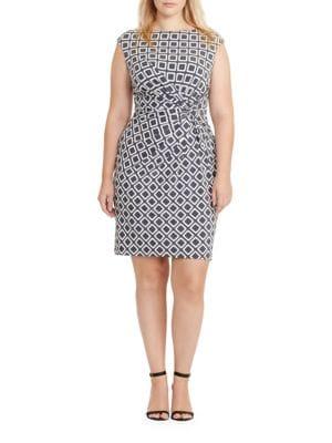 Photo of Lauren Ralph Lauren Geometric Printed Jersey Dress