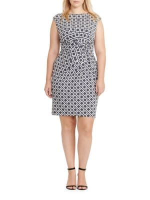Geometric Printed Jersey Dress by Lauren Ralph Lauren