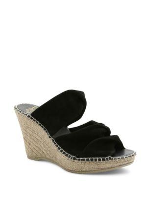 Sun Suede Platform Wedge Espadrille Sandals by Andre Assous