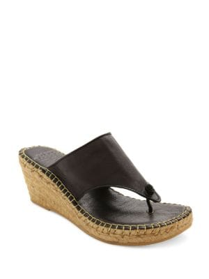 Alyssa Espadrille Thong Leather Sandals by Andre Assous