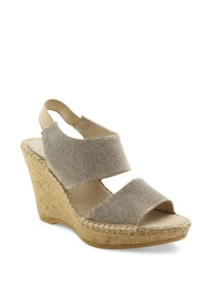 Reese Suede Platform Wedge Sandals by Andre Assous