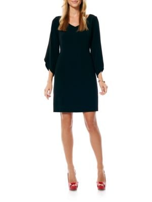 Crepe T-Body Tulip Sleeve Dress by Laundry by Shelli Segal