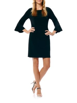 Three-Quarter Sleeve Shift Dress by Laundry by Shelli Segal