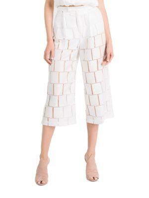 Grid Lace High Rise Pants 500042064592