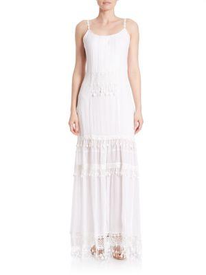 Kaegan Crochet-Trim Silk Maxi Dress 500042327007
