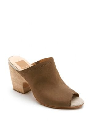 Tegan Leather Clogs by Dolce Vita