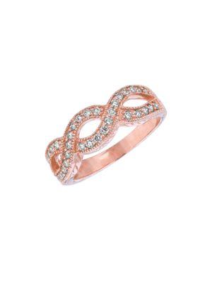 14K Rose Gold Diamond...