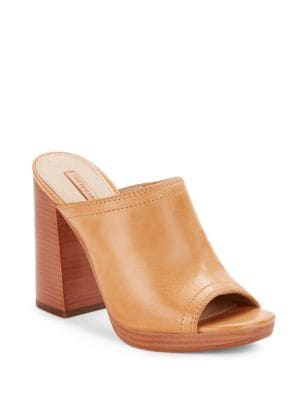 Photo of Karissa Leather Block Heel Sandals by Frye - shop Frye shoes sales