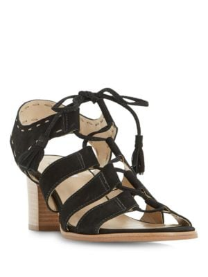 Ivanna Ghillie Lace Leather Sandals by Dune London