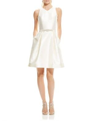 Bead-Embellished Belted Dress by Theia