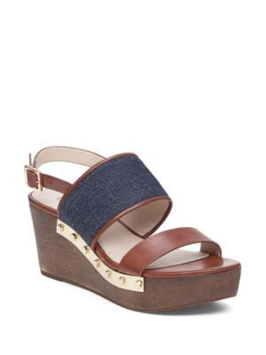 Quincy Leather Platform Wedges by Louise et Cie