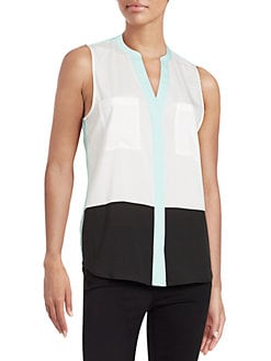 c17d48fbbf23c QUICK VIEW. Ivanka Trump. Colorblock Sleeveless Blouse