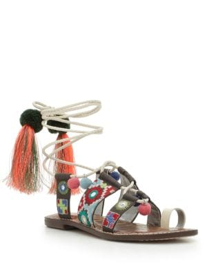 Gretchen Leather Toe-Ring Sandals by Sam Edelman