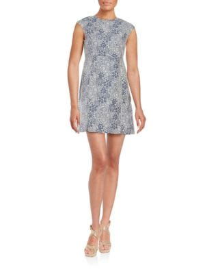 Metallic Cap-Sleeve Floral Sheath Dress by Tommy Hilfiger