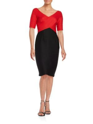 Petite Colorblock Sheath Dress by Nue By Shani