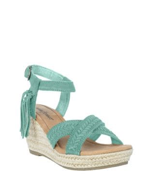 Naomi Suede Espadrille Wedge Sandals by Minnetonka