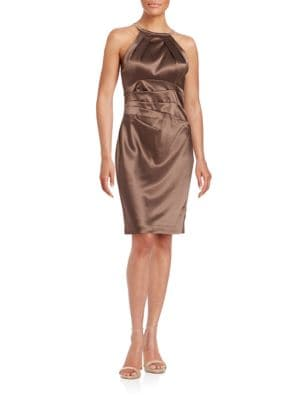 Satin Sheath Dress by Eliza J