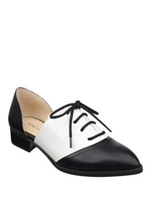 Nevie Leather Cutout Oxfords by Nine West