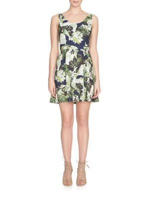 Sleeveless Garden Print Dress by Cynthia Steffe