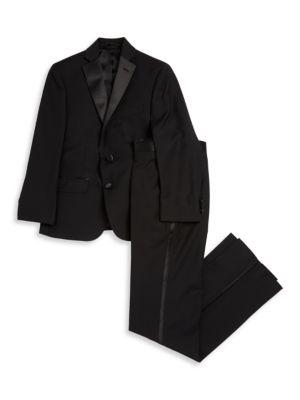 Husky Fit Suit Jacket and Pants Set