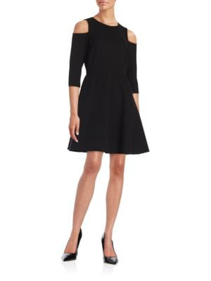 Knit Cold Shoulder Dress by Eliza J