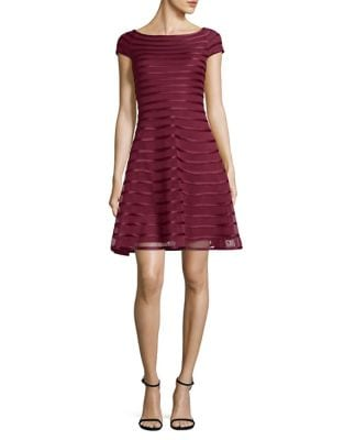 Striped Fit-&-Flare Dress by Betsy & Adam