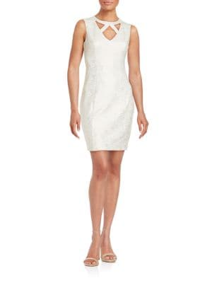 Cut-Out Sleeveless Sheath Dress by Guess