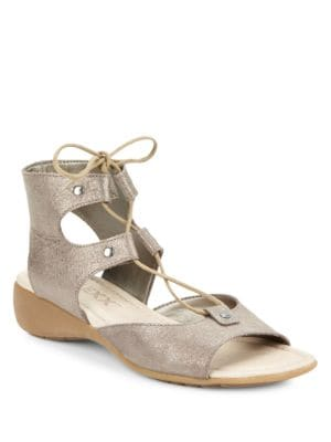 Band on the Run Leather Sandals by The Flexx