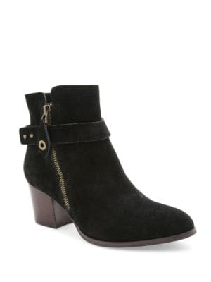 Seamore Suede Ankle Booties by Kensie