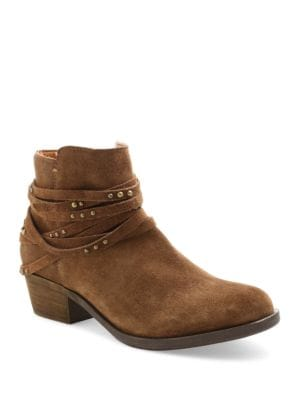 Gilberto Strappy Suede Ankle Booties by Kensie