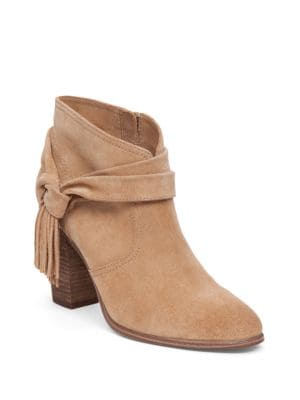Photo of Fringe Tie-Detail Booties by Vince Camuto - shop Vince Camuto shoes sales