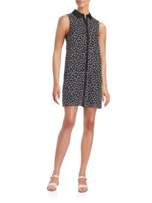 Floral-Print Lace Shirtdress by Betsey Johnson