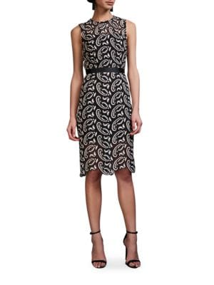 Paisley Lace Fitted Dress by Cynthia Rowley